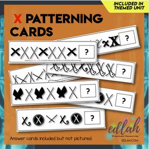X Marks the Spot Patterning Cards - Black & White Version