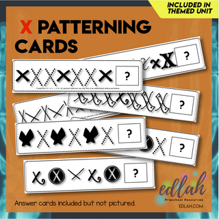 X Marks the Spot Patterning Cards - Black & White Version
