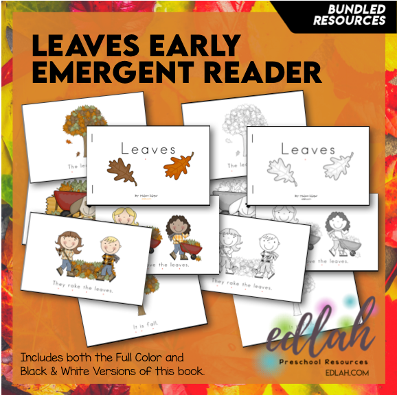 Leaves Early Emergent Reader - BUNDLE