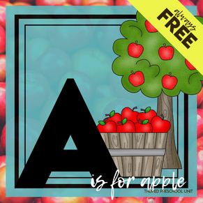 A is for Apple Themed Unit-Preschool Lesson Plans - Distance Learning - FREE