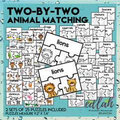 Two - By - Two Animal Matching