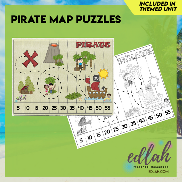 Pirate Map Puzzle (Counting by 5's)