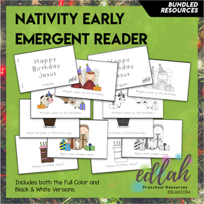 Christmas Nativity Early Emergent Reader - BUNDLE