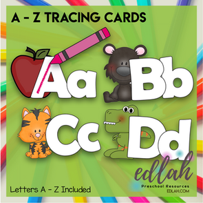 Alphabet Letter Tracing Cards (Letters A - Z included)