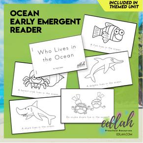 Ocean Early Emergent Reader - Black & White Version