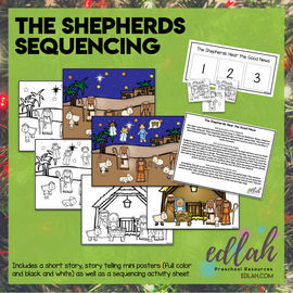 The Shepherds Hear the Good News Sequencing Activity