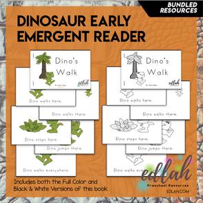 Dinosaur Early Emergent Reader - BUNDLE
