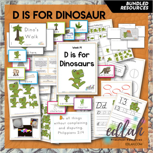D is for Dinosaurs Themed Unit-Preschool Lesson Plans