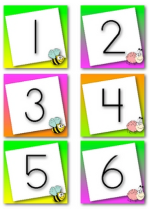 May Calendar Numbers (Bug or Insect Themed)