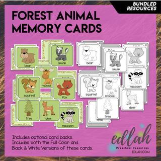 Bear Memory Game Cards