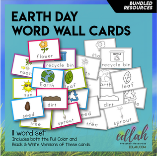 Earth Day Word Wall - BUNDLE - Version #1