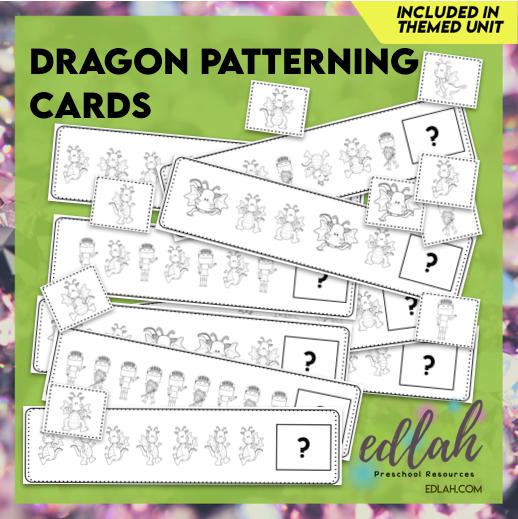 Dragon Patterning Cards - Black & White Version