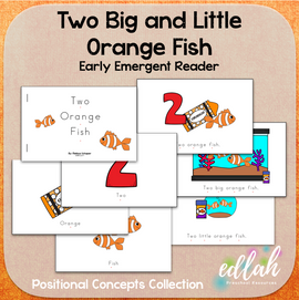 Two Orange Fish Early Emergent Reader (Big & Little) - Full Color Version
