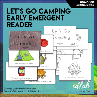 Let's Go Camping Early Emergent Reader - Bundle