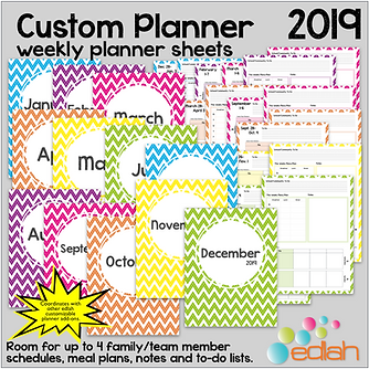 Build Your Own Custom Planner Weekly planner sheets