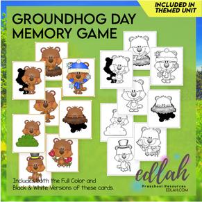 Groundhog Themed Memory Game
