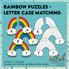 Rainbow Puzzle Letter Case Matching