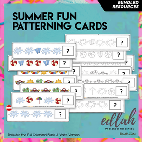 Summer Fun Patterning Cards Bundle - BUNDLE