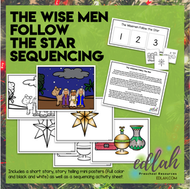 The Wise Men Follow the Star Sequencing Activity