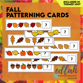 Fall Patterning Cards - Full Color Version