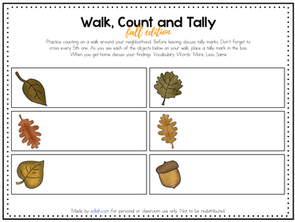 Walk, Count and Tally- Leaf Edition