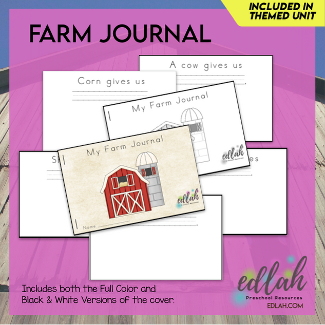 Farm Printable Journal