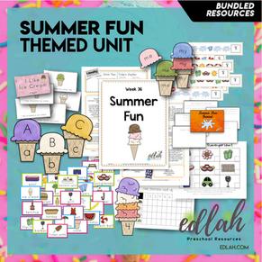 Summer Fun Themed Unit-Preschool Lesson Plans