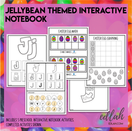 J is for Jellybean Themed Interactive Notebook