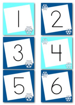January Calendar Numbers (Winter Themed)