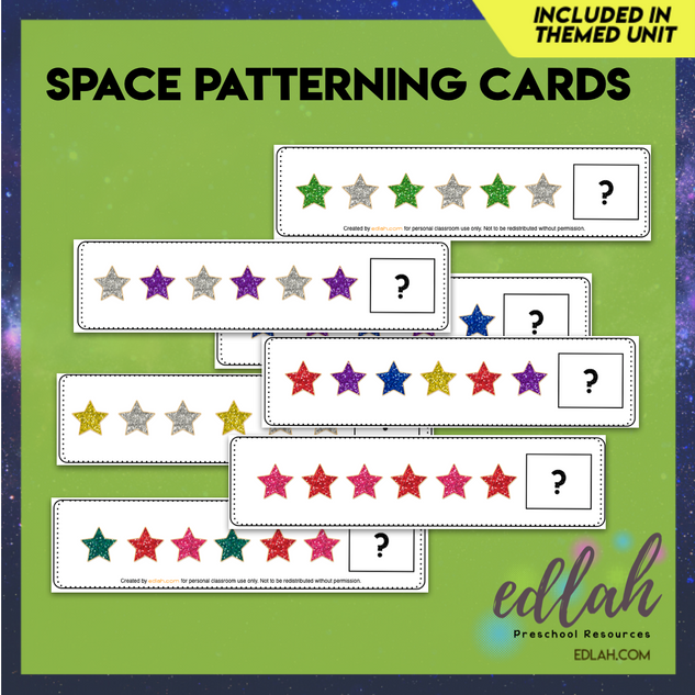 Space/Star Patterning Cards - Full Color Version