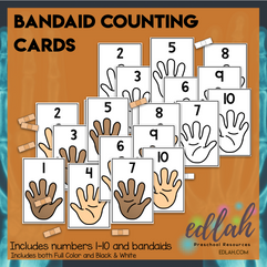 Bandaid Counting Cards (0-10)