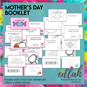 All About My Mom Booklet