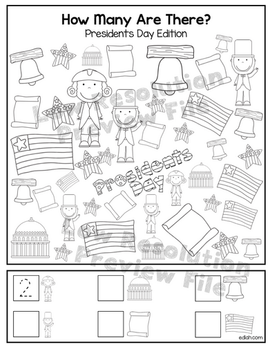 """Presidents' Day """"How Many Are There"""" Activity Sheet"""