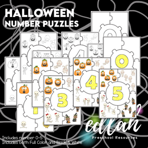 Halloween Number Puzzles 0-5