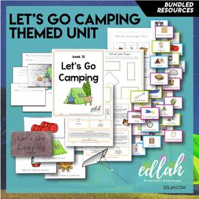 Let's Go Camping Themed Unit-Preschool Lesson Plans