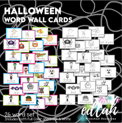 Vocabulary Halloween Word Wall Cards (set of 26) - BUNDLE-Version #1