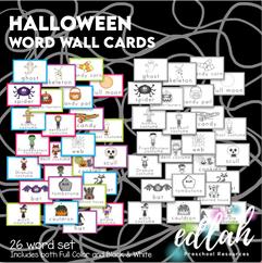 Vocabulary Halloween Word Wall Cards (set of 26) - BUNDLE-Version #1