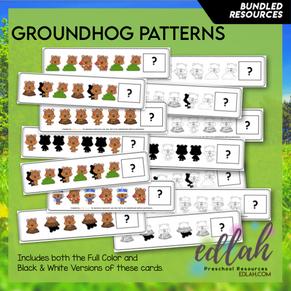 Groundhog Patterning Cards - BUNDLE