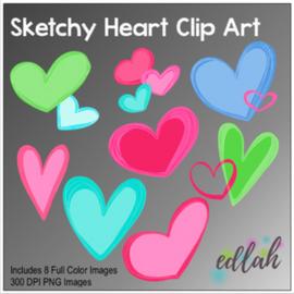 Sketchy Heart Clip Art