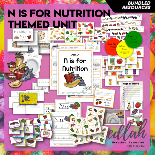N is for Nutrition Themed Unit-Preschool Lesson Plans - Distance Learning