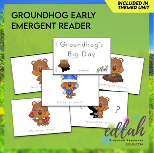 G is for Groundhog Early Emergent Reader - Full Color Version