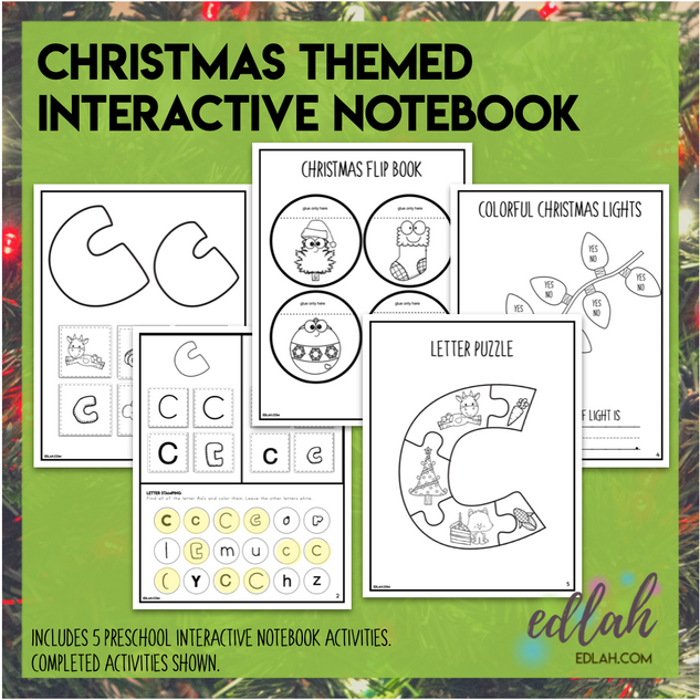 Christmas Themed Interactive Notebook