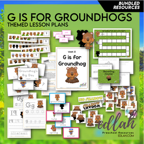 G is for Groundhog Themed Unit-Preschool Lesson Plans - Distance Learning