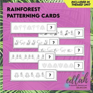 Rainforest Patterning Cards - Black & White Version