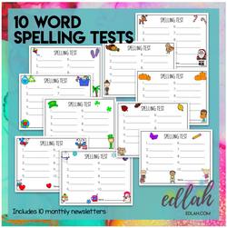 Spelling Tests Sheets