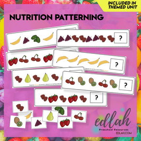 Nutrition/Food Patterning Cards - Full Color Version