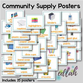 Community School Supply Posters