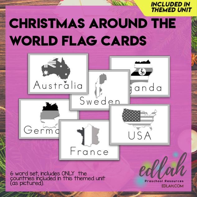 Christmas Around the World Word Wall Cards