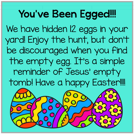"""You've Been """"Egged"""" Sign"""