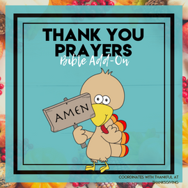 Thank You Prayers: Thanksgiving Bible Add-On (2 weeks) Mini Unit Lessons